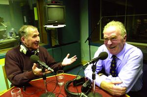 Weeshie Fogarty interviewing Harry Gregg