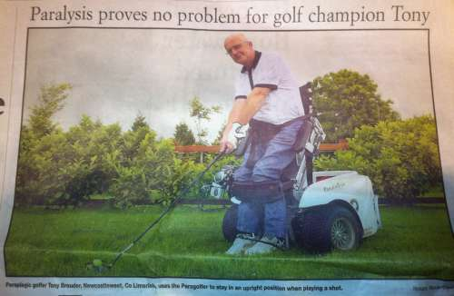 Paraplegic Golfer Tony Brouder from Newcastlewest