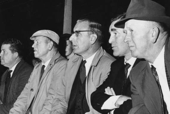 Kerry Selectors at a trial game in 1965 From Left: Teddy O'Connor, Johnny Walsh, Tadhg Crowley, Dr Jim Brosnan and Murt Kelly.